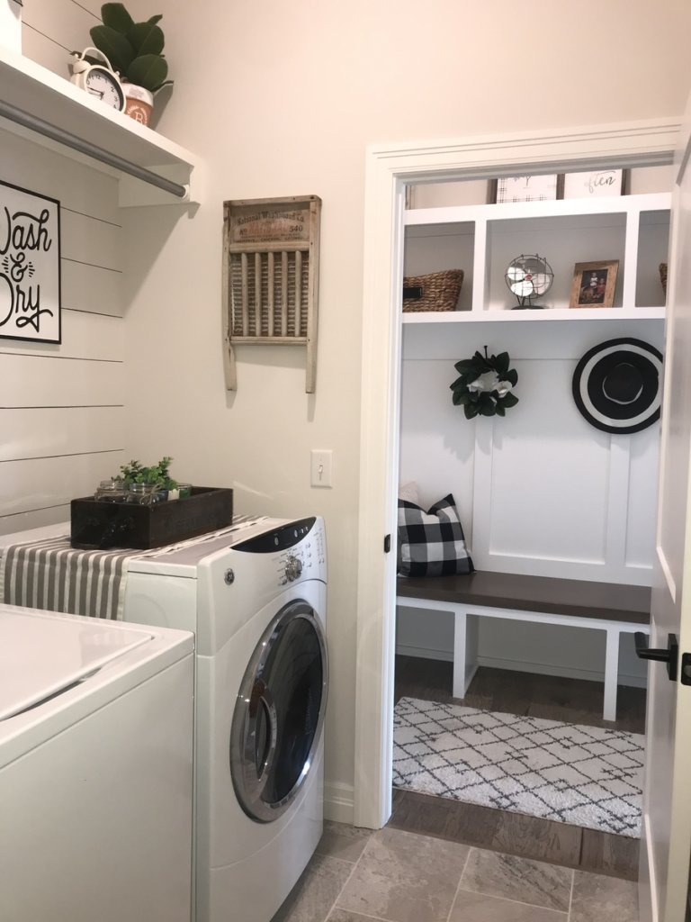 Small Laundry Room Makeover With Shiplap Leave Your Footprints